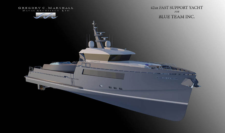 42m Fast Yacht Support Vessel